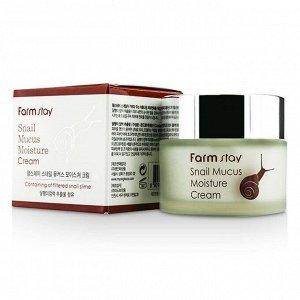 Увлажняющий крем с экстрактом улитки FarmStay Snail Mucus Moisture Cream