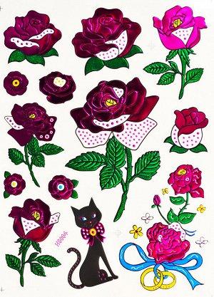 Наклейка из цветной фольги