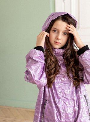 2182-S Ветровка для девочки на флисе