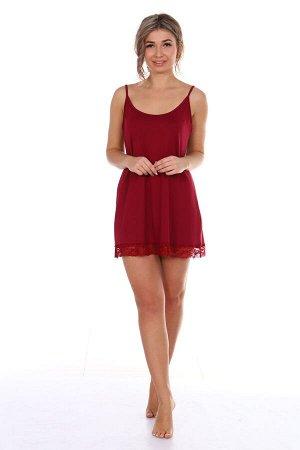 Сорочка женская, бордовый