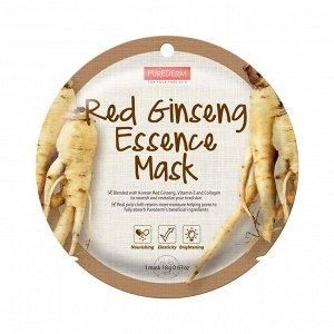 Purederm Red Ginseng Essence Circle Mask Маска увлажняющая коллагеновая с экстрактом женьшеня 18гр