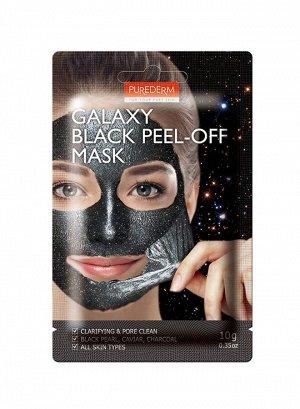 Purederm Galaxy Black Peel-Off Mask Маска-пленка для очищения пор, 10гр