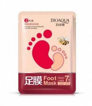 748955 BIOAQUA Питательная маска для ног с медом, 35 г, 60 шт/уп