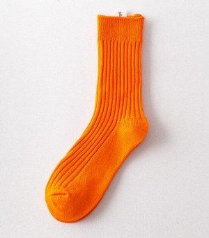 Носки мужские, однотонные, цвет оранжевый