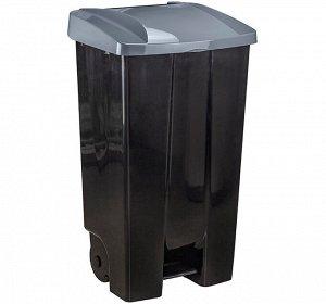 Бак 110,0л Бак 110,0л с педалью на колесах СЕРЫЙ Габариты:430х500х890 мм Бак вместителен, прочен, легко очищается, не сохраняет нежелательных запахов  Изделие  поставляется  в  частично  собранном  в