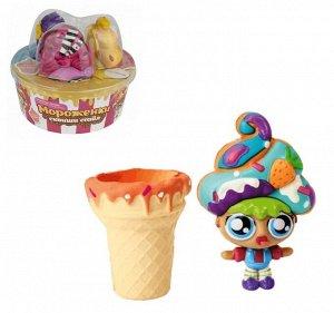 """Набор кукол """"Мороженки сквиши стайл"""" с мягкими прическами, ароматиз. 3 шт арт.Т16227"""
