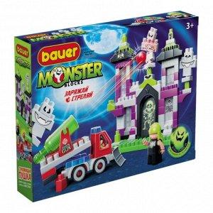 """Bauer.823 Конструктор """"Monster blocks"""" дом с привид. с машиной-пушкой РРЦ 1399 руб."""