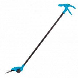 Ножницы для стрижки травы, на штанге с колёсами, 93 см, поворотная рабочая часть, LUXE
