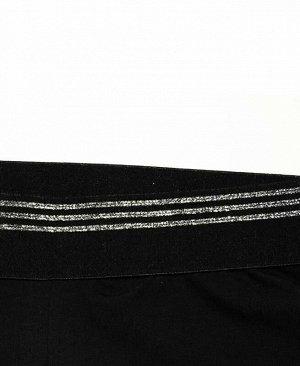 Чёрные легинсы для девочки Цвет: черный