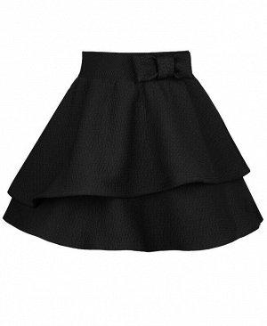 Школьная юбка для девочки чёрного цвета Цвет: черный