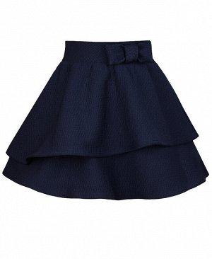 Синяя школьная юбка для девочки Цвет: тёмно-синий