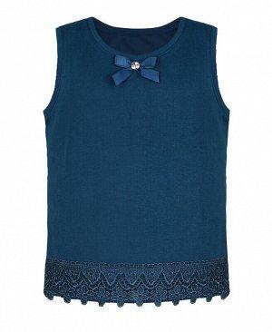 Синий жилет для девочки Цвет: синий