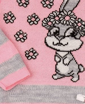 Туника вязаная для девочки Цвет: св.розовый