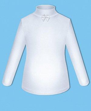 Школьная белая водолазка для девочки с бантом Цвет: белый