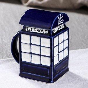 "Кружка ""Телефонная будка"", тёмно-синяя"