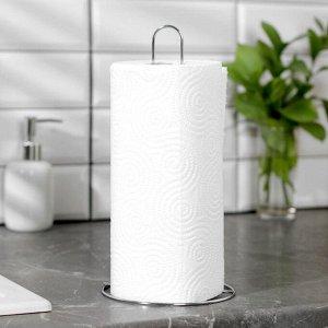 Подставка под бумажные полотенца Доляна, 14?14?28 см, цвет хром