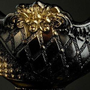 """Фигурное кашпо """"Ваза"""" черное золото, 26х32х20см"""