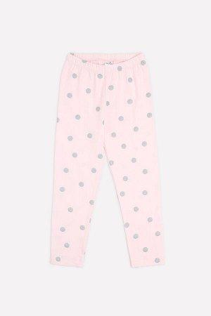 Бриджи для девочки Crockid КР 4074 персиково-розовый, горошек к285