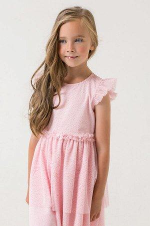 Платье(Весна-Лето)+girls (персиково-розовый к285)