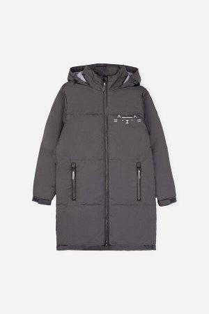 Пальто Цвет: темно-серый; Утеплитель: с утеплителем; Вид изделия: Изделия из мембраны; Рисунок: темно-серый; Сезон: Весна-Лето Демисезонное стёганое пальто для девочки с утеплителем Fellex® 120г/м2.