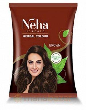 Краска для волос на основе натуральной хны Neha Herbals (Коричневый)  20 гр