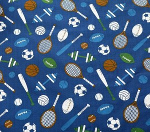 Ткань Сатин - Спорт 0,5*1,6м
