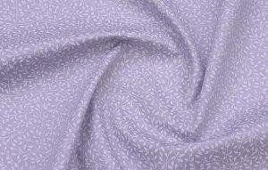 Ткань Сатин - Веточки на сиреневом фоне 0,5*1,6м