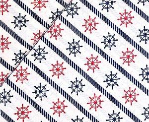 Ткань Бязь - Штурвалы 0,5*1,5м