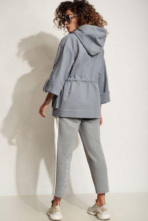 Куртка Куртка Сч@стье 7186  Состав: Спандекс-2%; Хлопок-98%; Сезон: Весна-Лето Рост: 170  Куртка с капюшоном из плотного турецкого хлопкового джинса. Свободный покрой и дизайнерская печать подчеркнут