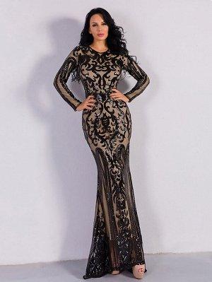 Missord облегающее длинное платье с блестками