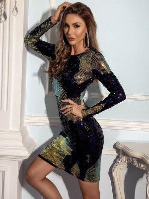 Missord Облегающее платье с блестками