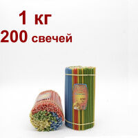 Православная - 27. Большой выбор свечей!  — Разноцветные восковые свечи (упаковкой) — Предметы религии