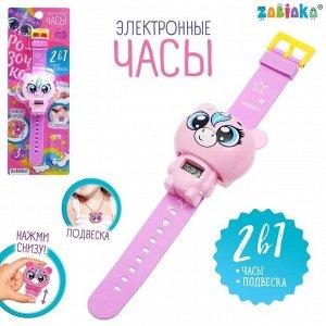 Электронные часы «Розочка», цвет розовый