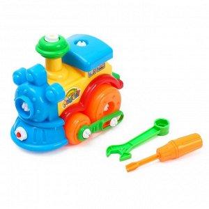 Конструктор для малышей «Паровоз», 29 деталей, цвета МИКС