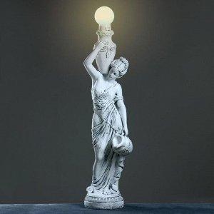 """Лампа интерьерная """"Девушка с кувшином"""" серый камень  145см"""