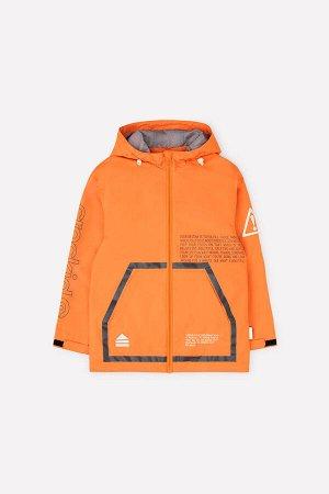 Куртка Цвет: оранжевый; Утеплитель: без утеплителя; Вид изделия: Изделия из мембраны; Рисунок: оранжевый; Сезон: Весна-Лето Куртка-парка для мальчика без утеплителя. Рекомендованный температурный реж