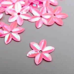 "Пайетки ""Zlatka"" 13 мм, 10 гр, розовый"