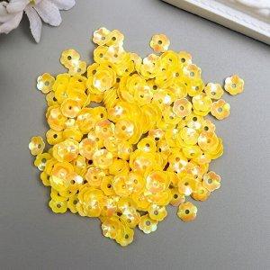 """Пайетки """"Zlatka"""" 7 мм, 10 гр, жёлтый"""