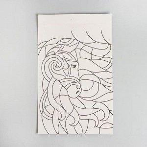 Набор для творчества. Аппликация пайетками с клеевым слоем «Единорог» 30 ? 45 см