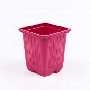 Горшок P7 Горшок P7 Россия розовый 7*7*7 см, объем 0,2л,( формованный)