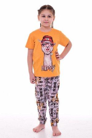Пижама подростковая 12-097 (горчица), Лама