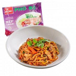 Лапша рисовая со вкусом говядины 60 гр в м/п
