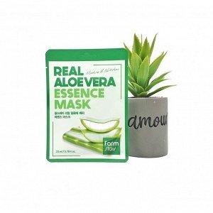 Тканевая маска для лица FARMSTAY REAL ALOEVERA ESSENCE MASK