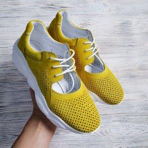 Замшевые кроссовки TED DREAM лимонный