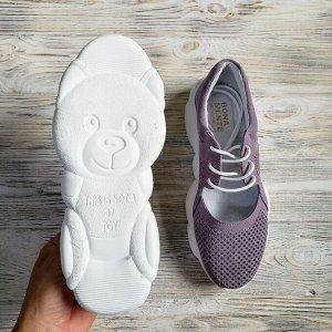 Замшевые кроссовки TED DREAM лаванда замша