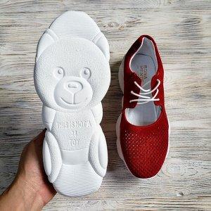 Замшевые кроссовки TED DREAM красный