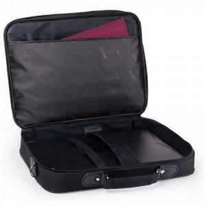 """Сумка деловая BRAUBERG с отделением для ноутбука 13,3"""", """"Profi"""", откидная крышка, черная, 35х25х7 см, 240440"""