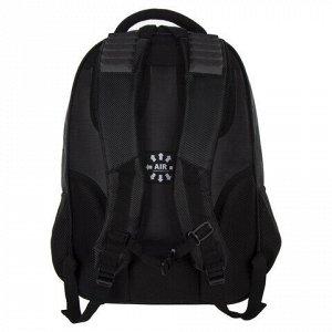 """Рюкзак BRAUBERG """"Flagman"""", 35 л, размер 46х35х25 см, 35 л, ткань, черно-красный, 224454"""
