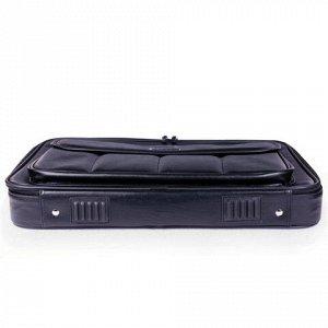 """Сумка деловая BRAUBERG с отделением для ноутбука 15,6"""", """"Munchen2, откидная крышка, экокожа, 40х30х7 см, 240445"""