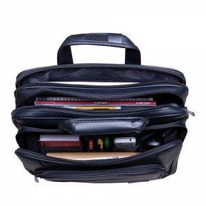 """Сумка деловая BRAUBERG с отделением для ноутбука 15,6"""", """"Favorite"""", 2 отделения, экокожа, 41х32х12 см, 240399"""